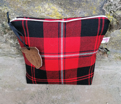 Bag: Red Tartan lined hand made