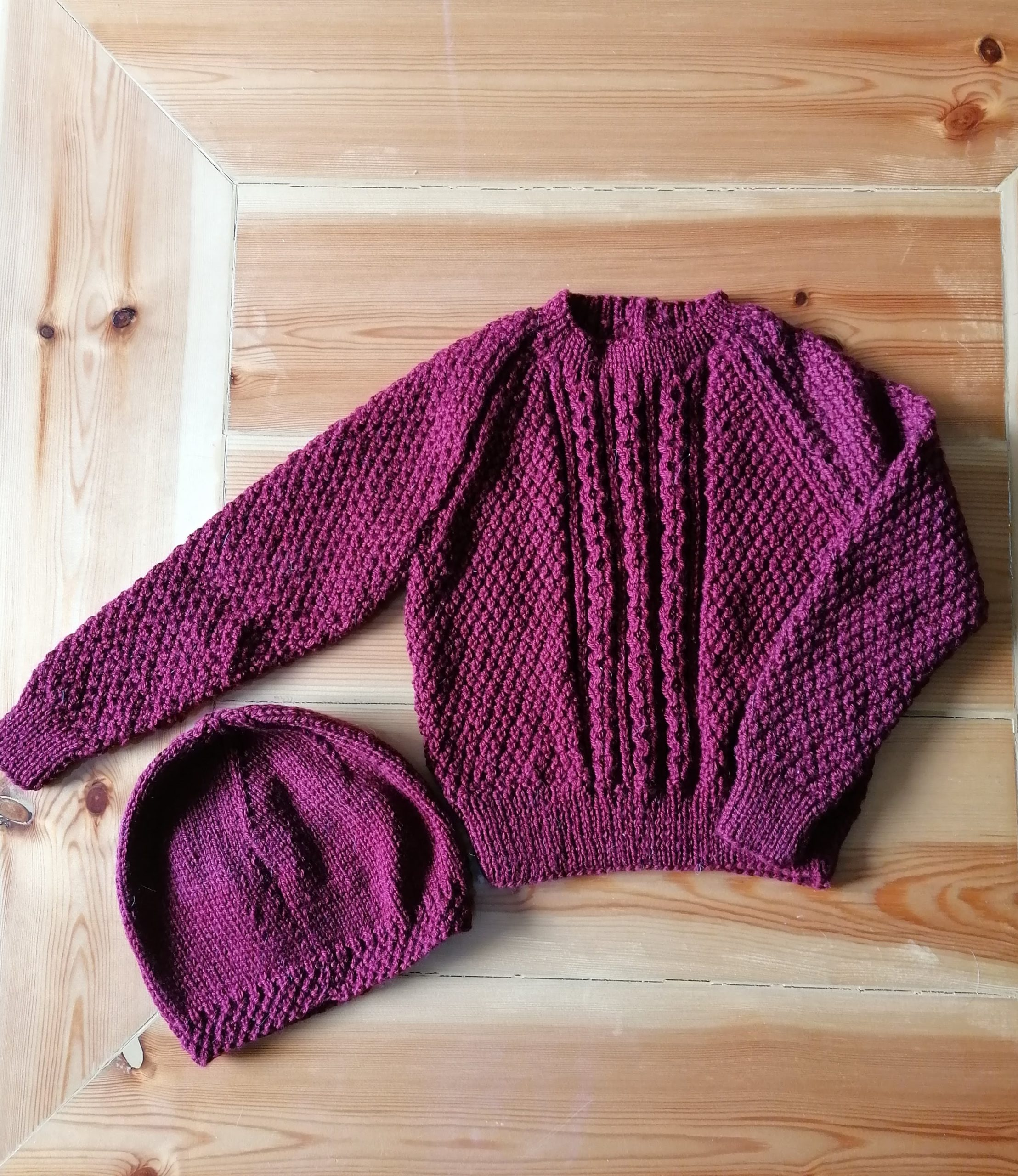 Hand Knitted Jumper & Hat