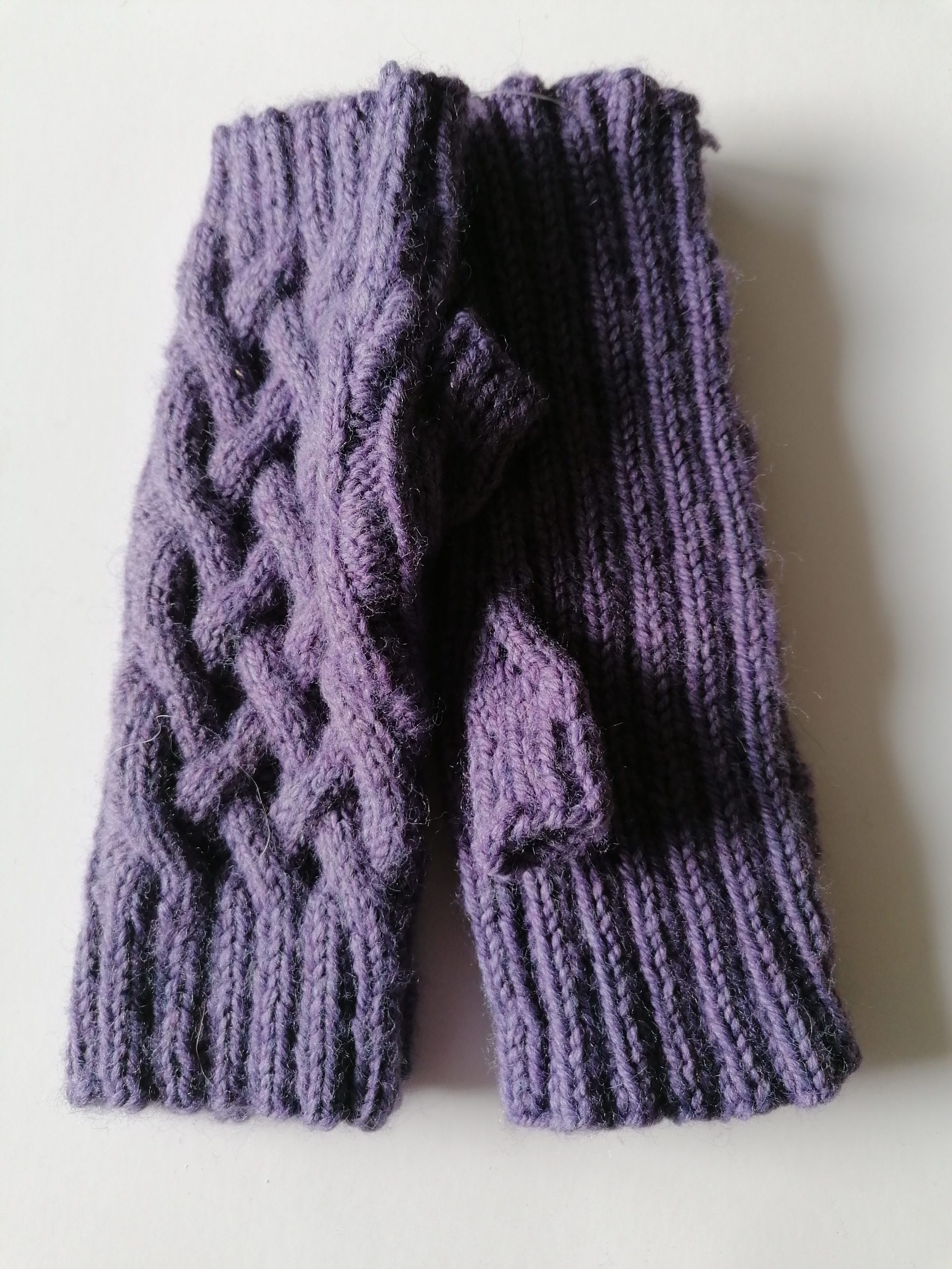 Knitted Cable Wristlets